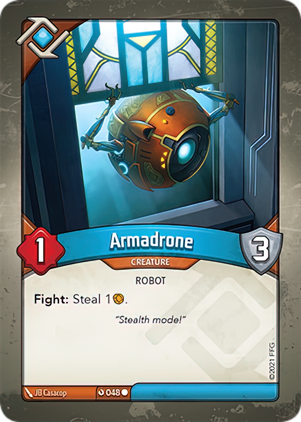 Armadrone, a KeyForge card illustrated by JB Casacop