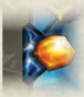 Example of the enhanced aember bonus icon in the upper left corner of a card