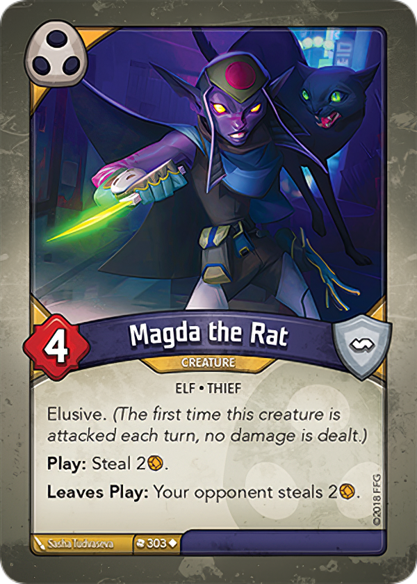 An example of a card from house Shadows