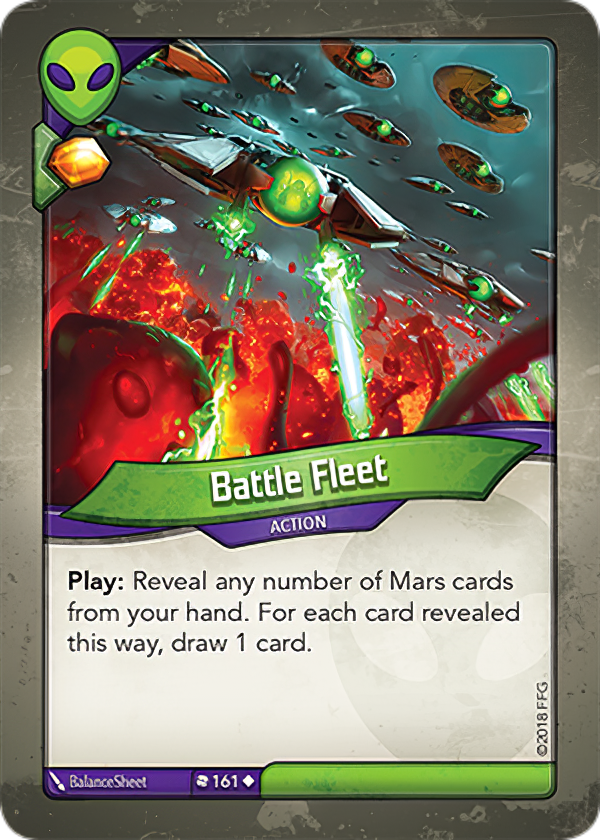 An example of a card from house Mars