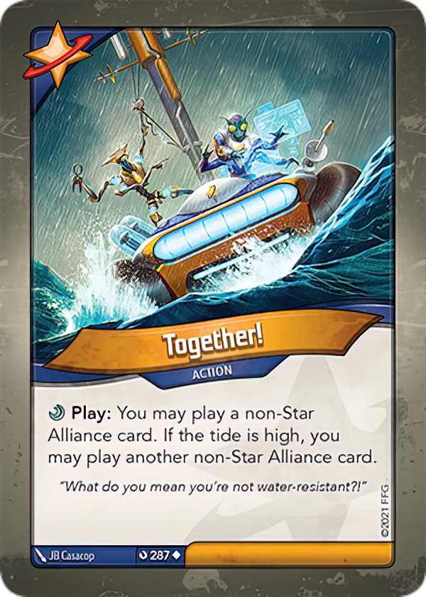 Together!, a KeyForge card illustrated by JB Casacop
