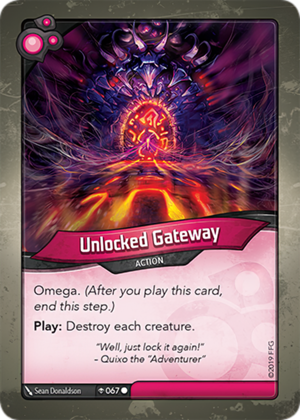Unlocked Gateway, a KeyForge card illustrated by Sean Donaldson
