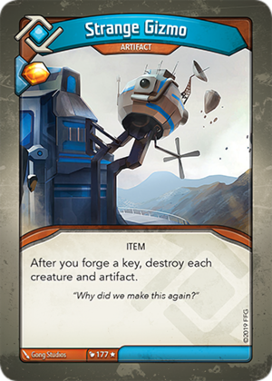 Strange Gizmo, a KeyForge card illustrated by Gong Studios