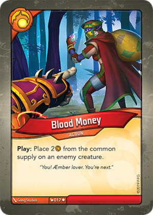 Blood Money, a KeyForge card illustrated by Gong Studios