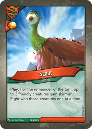 Scout, a KeyForge card illustrated by Caravan Studio