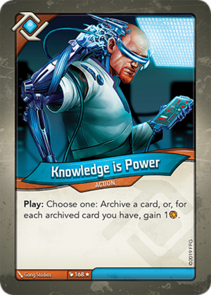 Knowledge is Power, a KeyForge card illustrated by Gong Studios