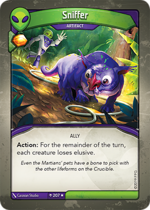 Sniffer, a KeyForge card illustrated by Caravan Studio