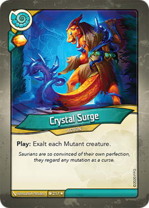Crystal Surge, a KeyForge card illustrated by Konstantin Porubov
