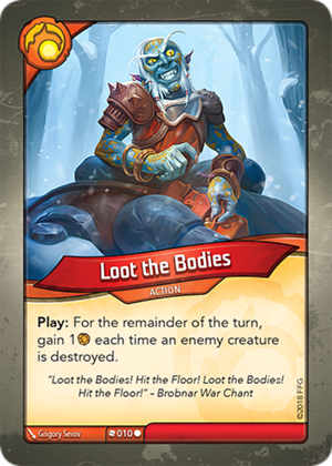 Loot the Bodies, a KeyForge card illustrated by Grigory Serov