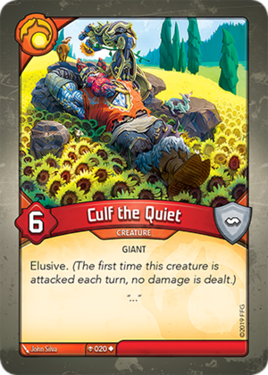 Culf the Quiet, a KeyForge card illustrated by John Silva