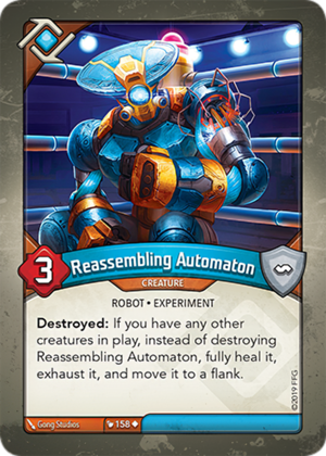 Reassembling Automaton, a KeyForge card illustrated by Gong Studios
