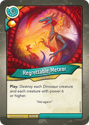 Regrettable Meteor, a KeyForge card illustrated by Francisco Badilla