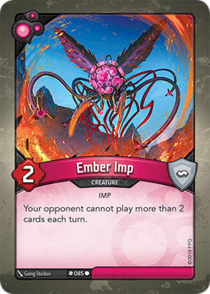 Ember Imp, a KeyForge card illustrated by Gong Studios