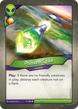 Phloxem Spike, a KeyForge card illustrated by Gong Studios