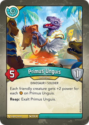 Primus Unguis, a KeyForge card illustrated by Grigory Serov