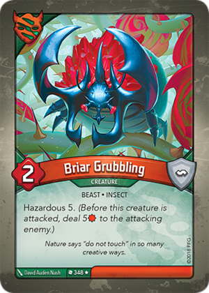 Briar Grubbling, a KeyForge card illustrated by David Auden Nash
