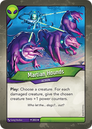 Martian Hounds, a KeyForge card illustrated by Gong Studios