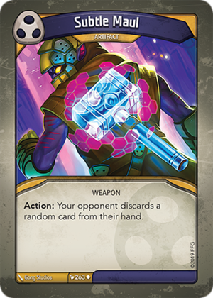 Subtle Maul, a KeyForge card illustrated by Gong Studios