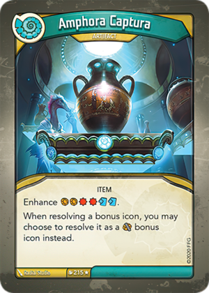 Amphora Captura, a KeyForge card illustrated by Radial Studio