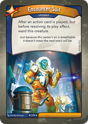 Encounter Suit, a KeyForge card illustrated by Hendry Iwanaga