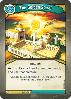 The Golden Spiral, a KeyForge card illustrated by Jason Juta