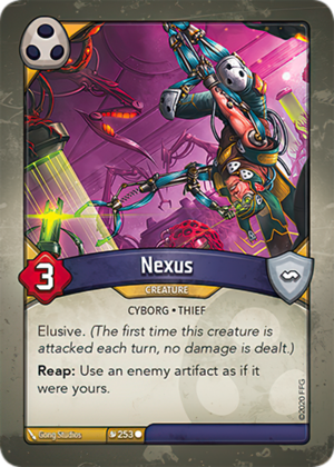 Nexus, a KeyForge card illustrated by Gong Studios