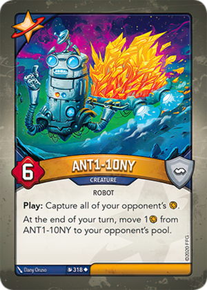 ANT1-10NY, a KeyForge card illustrated by Dany Orizio