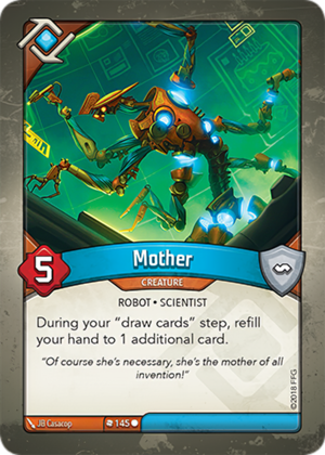 Mother, a KeyForge card illustrated by JB Casacop