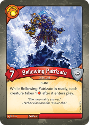 Bellowing Patrizate