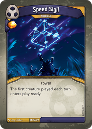 Speed Sigil, a KeyForge card illustrated by Gong Studios