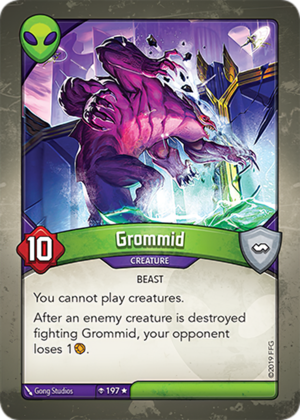 Grommid, a KeyForge card illustrated by Gong Studios
