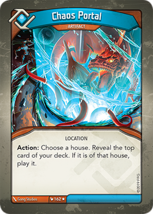 Chaos Portal, a KeyForge card illustrated by Gong Studios