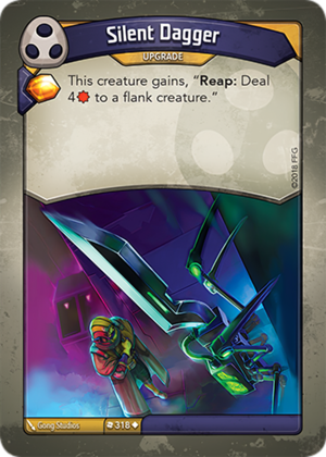 Silent Dagger, a KeyForge card illustrated by Gong Studios