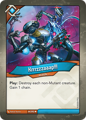 Krrrzzzaaap!!!, a KeyForge card illustrated by Radial Studio
