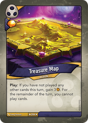 Treasure Map, a KeyForge card illustrated by Gong Studios