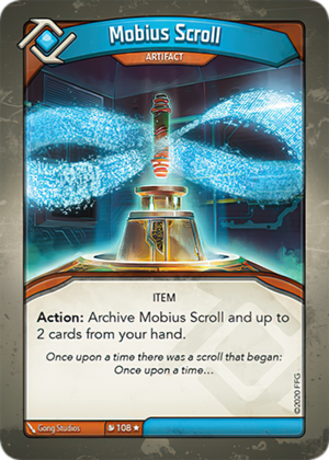 Mobius Scroll, a KeyForge card illustrated by Gong Studios