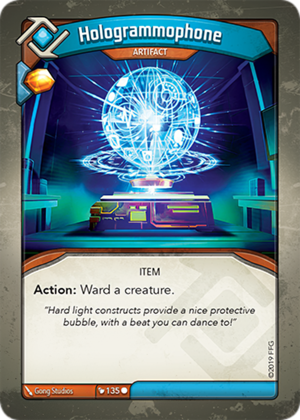 Hologrammophone, a KeyForge card illustrated by Gong Studios