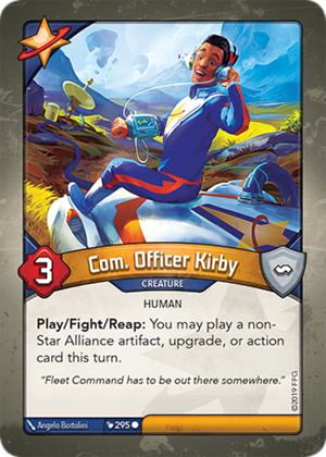 Com. Officer Kirby, a KeyForge card illustrated by Ângelo Bortolini