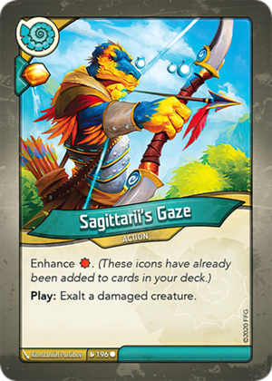 Sagittarii's Gaze, a KeyForge card illustrated by Konstantin Porubov