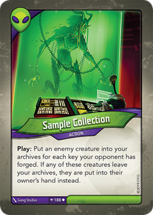 Sample Collection, a KeyForge card illustrated by Gong Studios