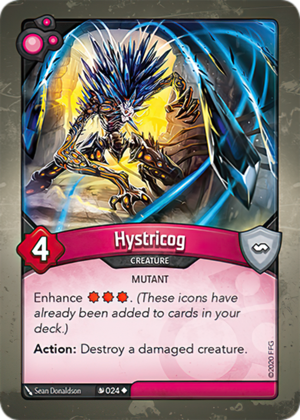 Hystricog, a KeyForge card illustrated by Sean Donaldson