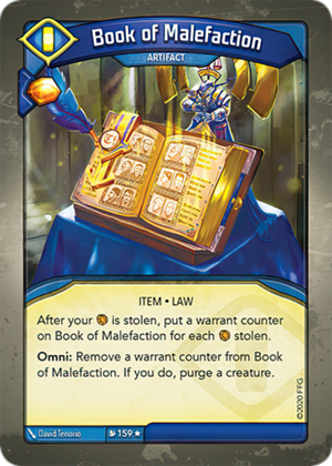Book of Malefaction, a KeyForge card illustrated by David Tenorio