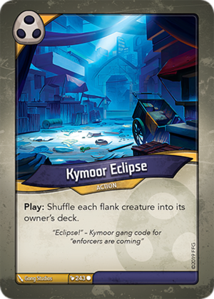 Kymoor Eclipse, a KeyForge card illustrated by Gong Studios
