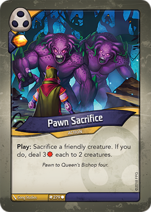 Pawn Sacrifice, a KeyForge card illustrated by Gong Studios