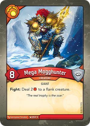 Mega Mogghunter, a KeyForge card illustrated by Konstantin Porubov