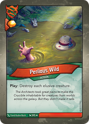 Perilous Wild, a KeyForge card illustrated by David Auden Nash