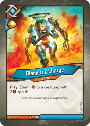 Diametric Charge, a KeyForge card illustrated by Radial Studio