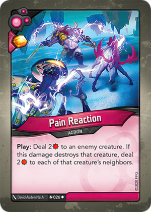 Pain Reaction, a KeyForge card illustrated by David Auden Nash