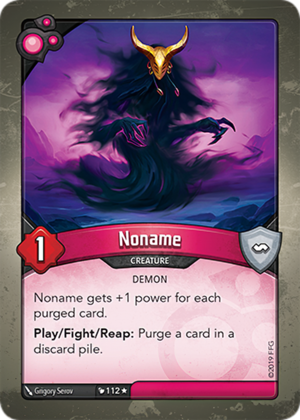 Noname, a KeyForge card illustrated by Grigory Serov