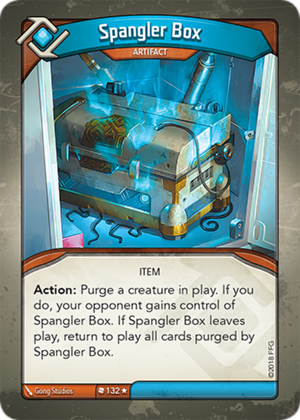 Spangler Box, a KeyForge card illustrated by Gong Studios